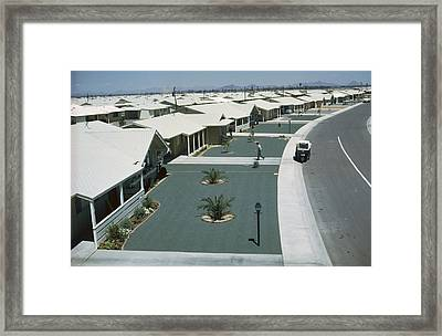Homes Built For A Retirees Have Green Framed Print