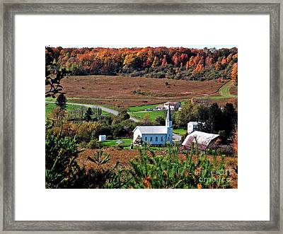Homestead Of Faith Framed Print