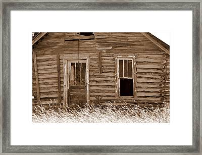 Homestead Past Framed Print by Marty Koch