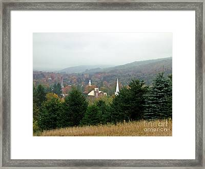 Framed Print featuring the photograph Hometown Hauntings by Christian Mattison