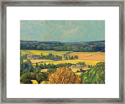 Hommage To Vincent Van Gogh - Zuid Limburg Framed Print by Nop Briex