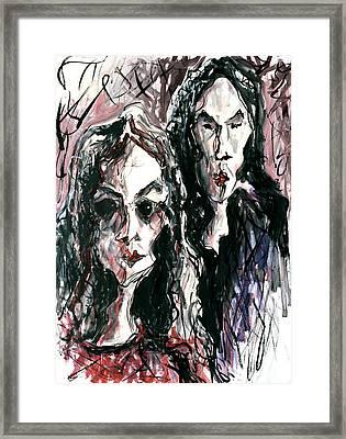 Homoline #36. Two Figures Framed Print