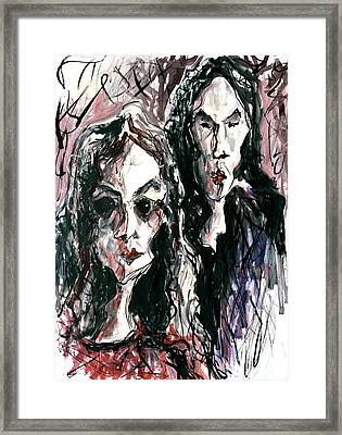 Homoline #36. Two Figures Framed Print by Alfredo Gonzalez