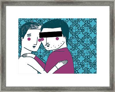 Homosexuality In Morocco Framed Print by Luciano Lozano
