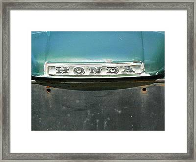 Honda 600 Framed Print by Pamela Patch