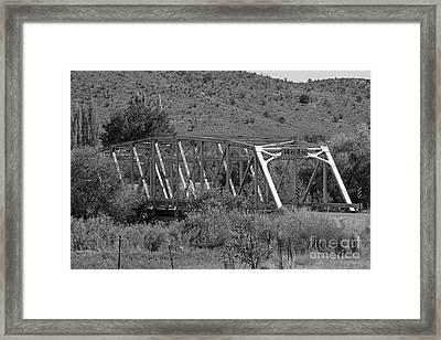 Hondo Iron Framed Print by Shawn Naranjo