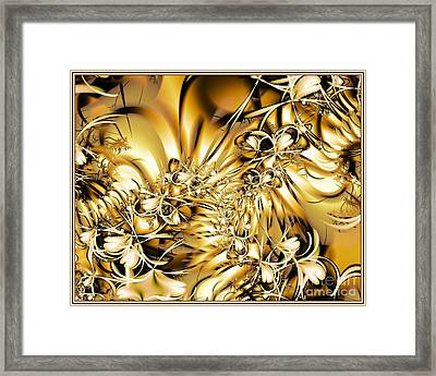Honeysuckle Gold Framed Print by Michelle H