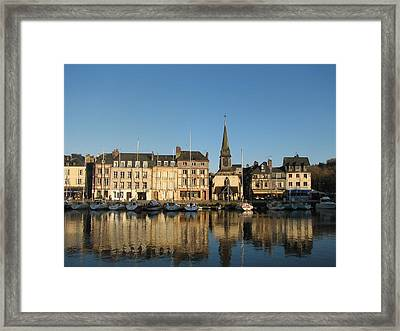 Framed Print featuring the photograph Honfleur  by Carla Parris