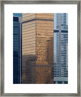 Hong Kong Gold Framed Print by Michael Canning