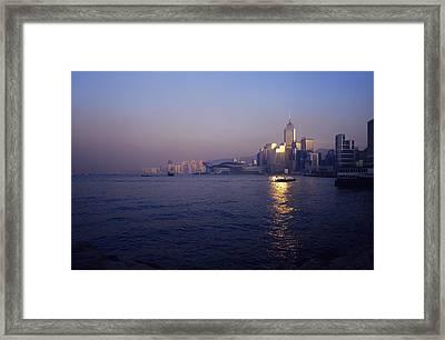 Hong Kong Harbour Framed Print by Carlos Dominguez