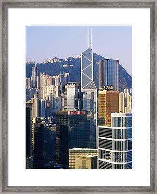 Hong Kong Skyline Looking Towards Victoria Peak Framed Print by Jeremy Woodhouse