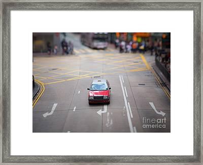 Hong Kong Taxicab Framed Print by Ei Katsumata