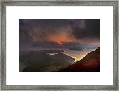 Hongpo Sunset South Korea  Framed Print
