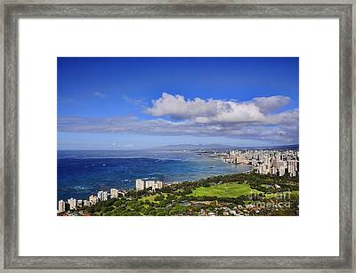 Honolulu From Diamond Head Framed Print