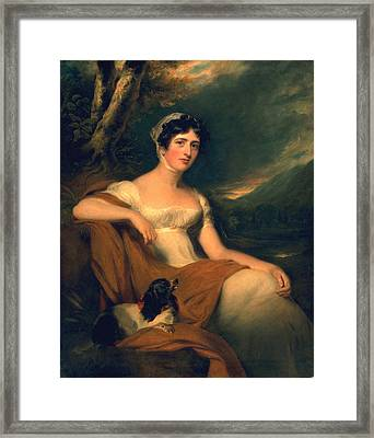 Honorable Emma Cunliffe Later Emma Cunliffe-offley Framed Print by Thomas Lawrence