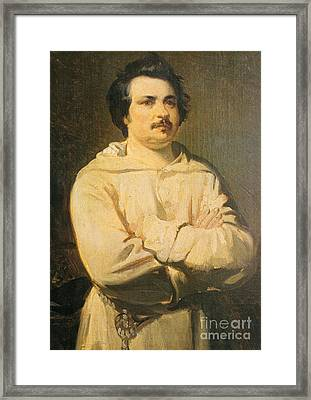 Honore De Balkzac, French Author Framed Print by Photo Researchers
