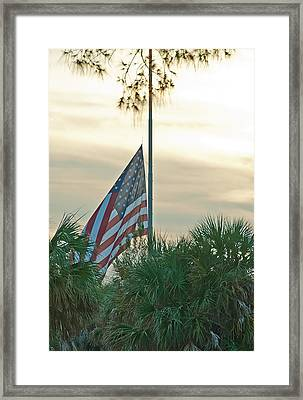 Honoring A Hero Framed Print by John Black