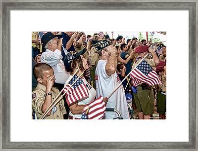 Honoring The Legacy Of Heroes Framed Print by Starlite Studio