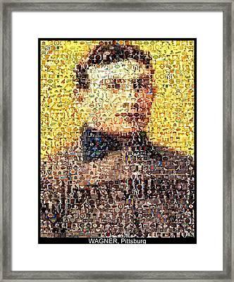 Honus Wagner Mosaic Framed Print