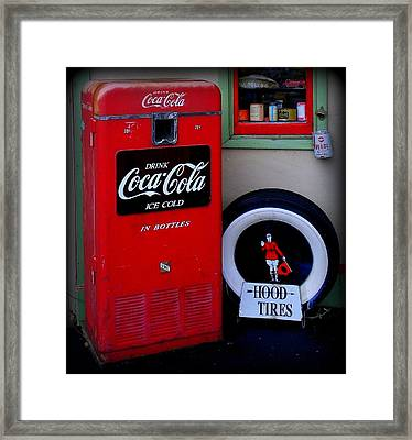 Hood Tires Cocacola Framed Print by Randall Weidner