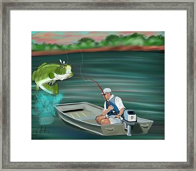 Hooked A Keeper Framed Print