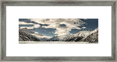 Hooker River In The Valley At Tasman Framed Print by Colin Monteath