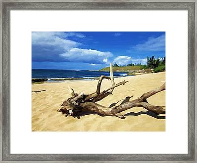 Hookipa Bay Framed Print