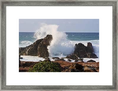 Hookipa Beach Wave 1 Framed Print by Teresa Zieba