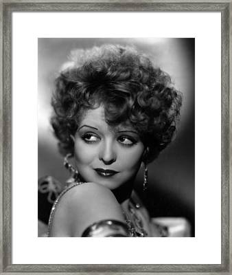 Hoopla, Clara Bow, 1933 Framed Print by Everett