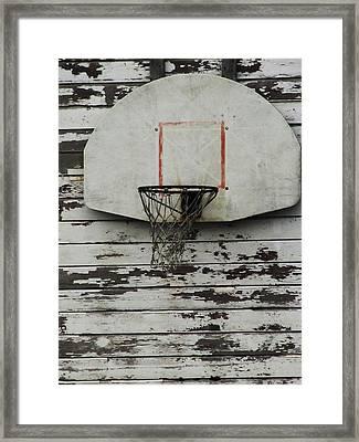 Hoops Framed Print by Todd Sherlock