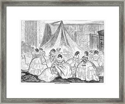 Hoopskirts, 1858 Framed Print