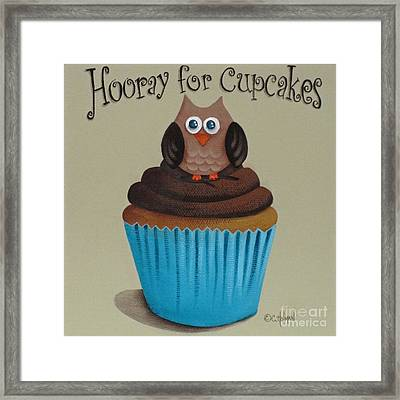 Hooray For Cupcakes Framed Print by Catherine Holman