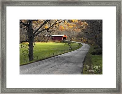 Hoosier Autumn - D007843a Framed Print