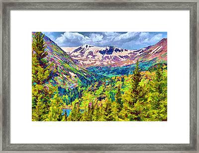 Framed Print featuring the digital art Hoosier Pass by Brian Davis