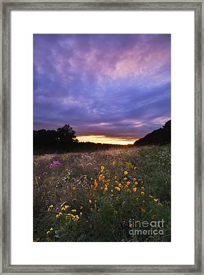 Hoosier Sunset - D007743 Framed Print