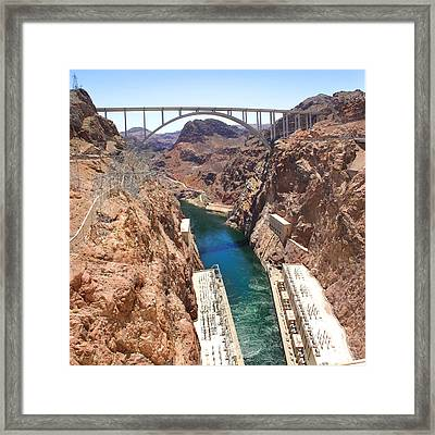 Hoover Dam Bridge Framed Print by Mike McGlothlen