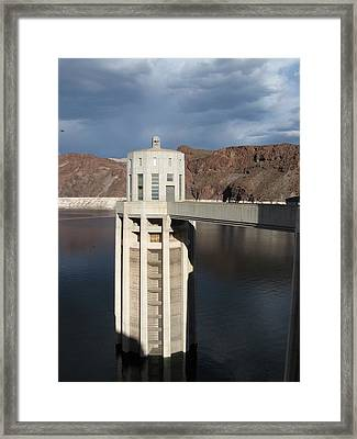 Hoover Dam Single Tower Framed Print