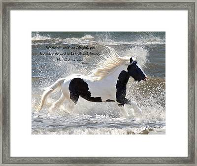 Hooves On The Wind Framed Print