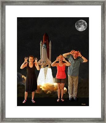 Hoovler Family Scream Framed Print by Eric Kempson