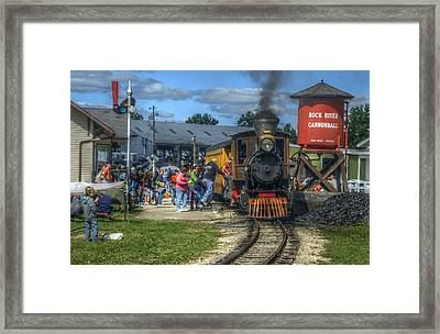 Hop On Board Framed Print by Janice Adomeit