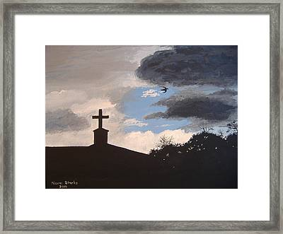 Framed Print featuring the painting Hope In The Storm by Norm Starks