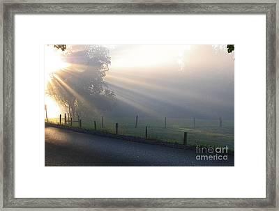 Hope Is In His Light Framed Print