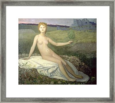 Hope Framed Print by Pierre Puvis de Chavannes