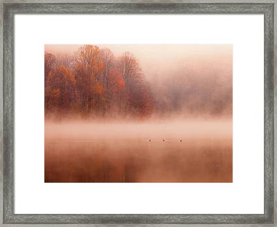 Hopewell Lake, French Creek State Park Framed Print by Michael Lawrence Photography