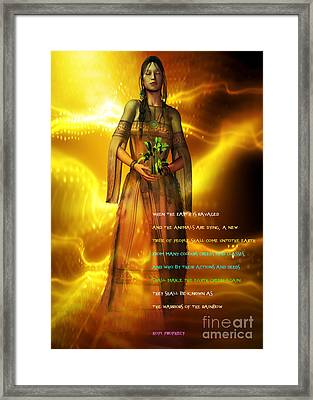 Framed Print featuring the digital art Hopi Prophecy by Shadowlea Is