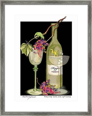 Framed Print featuring the painting Hoppie Hour by Anne Beverley-Stamps