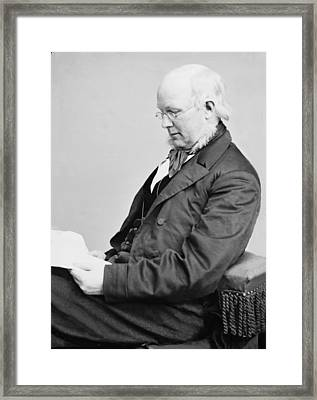 Horace Greeley 1811-1872, Ca. 1860 Framed Print by Everett