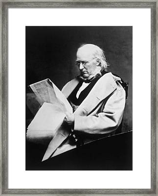 Horace Greeley 1811-1872, Photograph Framed Print