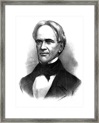 Horace Mann, American Education Reformer Framed Print