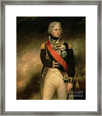 Horatio Viscount Nelson Framed Print by Sir William Beechey